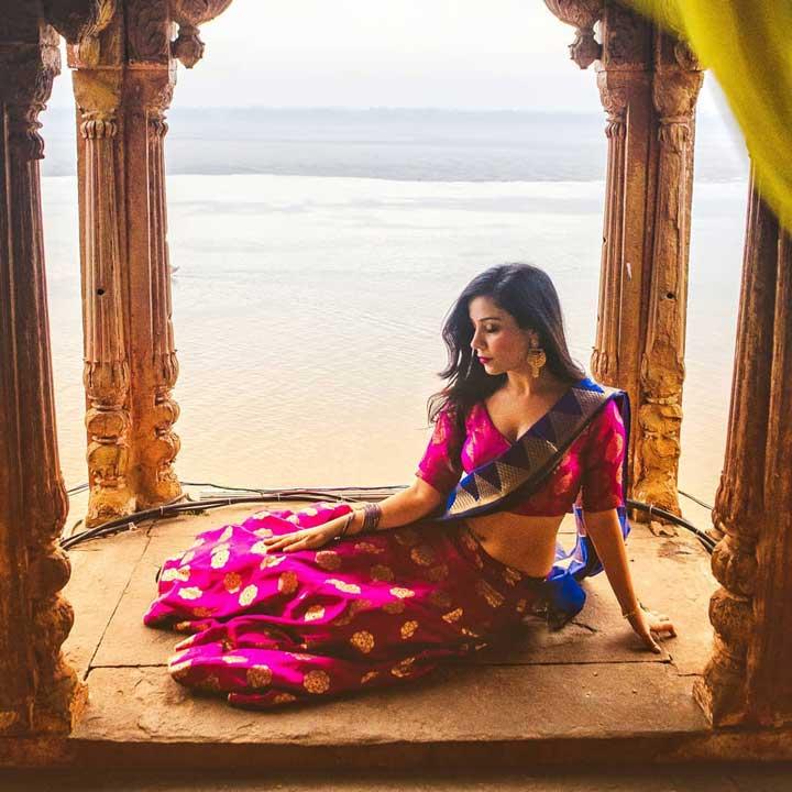 Ruby Bharaj hot saree
