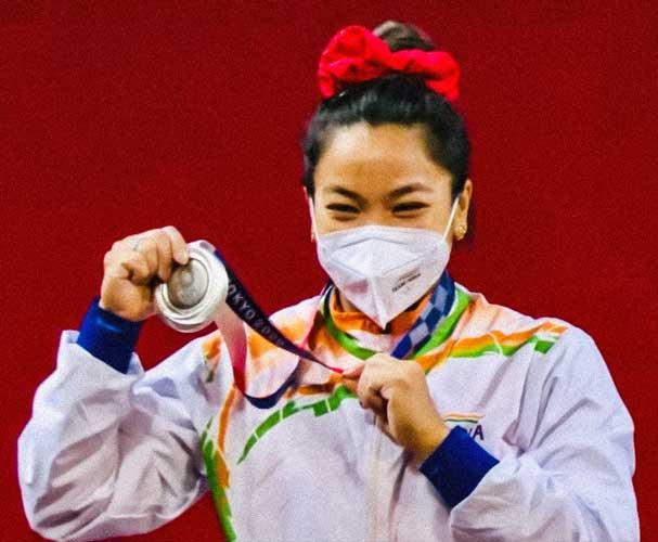 Saikhom Mirabai Chanu tokyo silver medal 2020